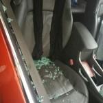 حمله به ماشین حامد زمانی + عکس