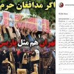 حمله به آنا نعمتی بخاطر دفاع از مدافعان حرم +عکس