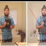 دستکاری عکس سلفی و جابجایی قرآن با آی پد و پیراهن با جلیقه انتحاری با فتوشاپ+ تصاویر