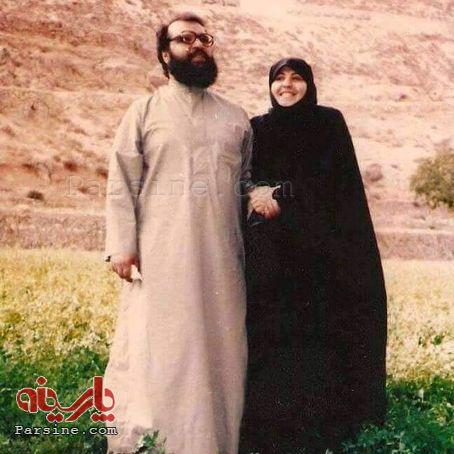 عکس همسر دبیر کل حزب الله لبنان