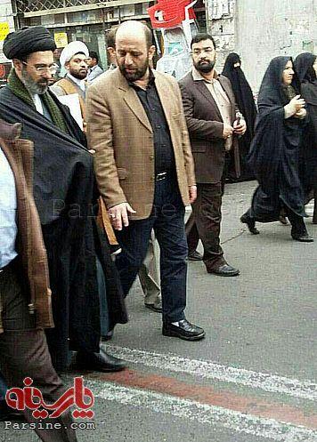 عکس:حضور سیدمجتبی خامنه ای در تشییع جنازه مرحوم سلحشور