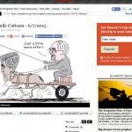 کاریکاتور روزنامه اسرائیلی هاآرتص از ظریف و کری!