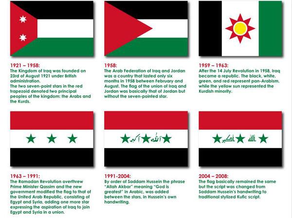 پرچم و سرود ملی عراق تغییر میکند + عکس