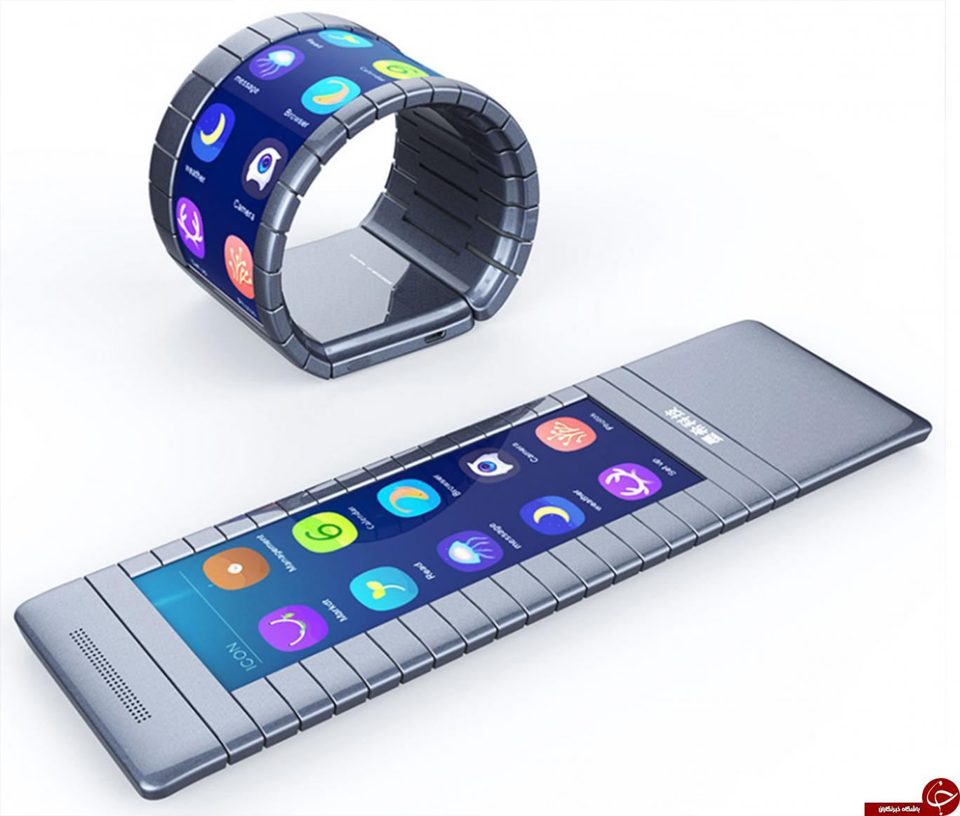 اولین گوشی هوشمند جهان با قابلیت خمیده شدن +عکس