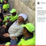 گپ خودمانی شیخ انصاریان با رفتگران شهرداری (عکس)