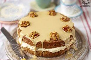 کیک قهوه و گردو