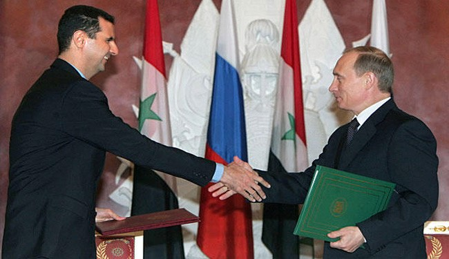 Russia's Putin Not to Stop Support for Syria's al-Assad Government