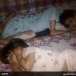 عکسی تکاندهنده از اضطراب کودکان یمنی هنگام خواب