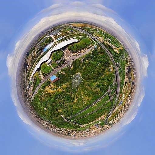 اولین نمای 360 درجه کروی از تهران