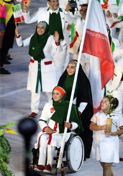 عکس/ پرچمدار ویژه کاروان ایران در المپیک