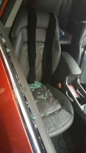 حمله موتورسواران به ماشین حامد زمانی