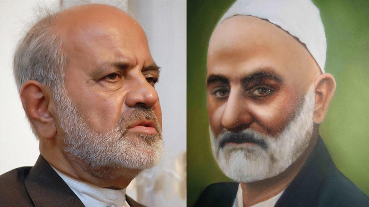 شیخ رجبعلی نکوگویان (خیاط) و استاد محمدکاظم نیکنام