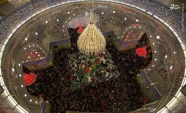 عکسی منحصربهفرد از حرم حضرت عباس(ع) در روز اربعین