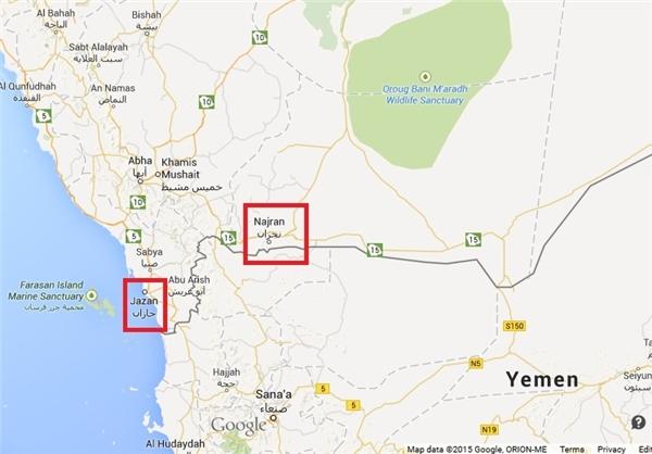 مناطق درگیری در خاک عربستان