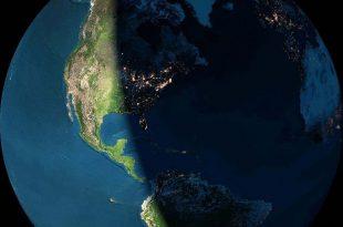 روز و شب کره زمین را یکجا ببینید+ عکس