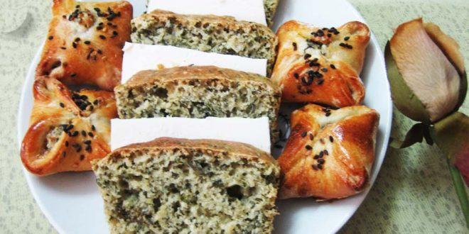 نان با سبزی های معطر