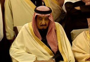 حرکت خندهدارِ پادشاه عربستان در مقابل نخستوزیر ژاپن+فیلم