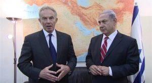 عکس یادگاری بلر و نتانیاهو با نقشه ایران!