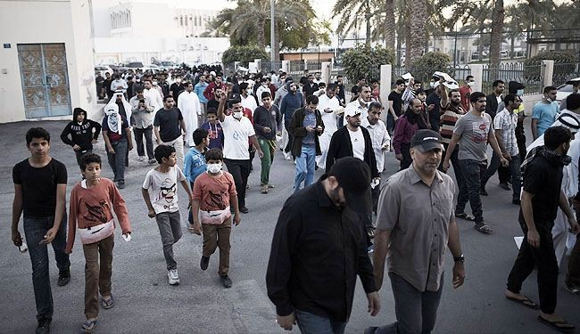 تظاهرات فی البحرین بالذکرى الرابعه للثوره