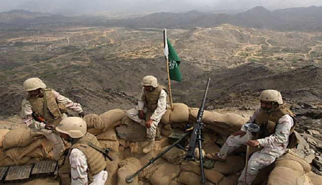 تفنگداران عربستان در مرز یمن